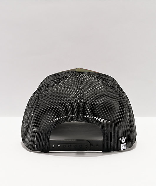 Salty Crew Tippet Retro Camo Trucker Snapback Hat
