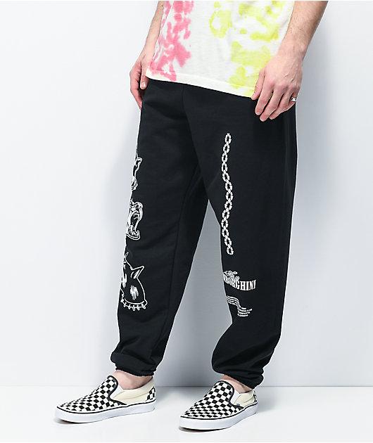 Samborghini Barking Dog Black Sweatpants