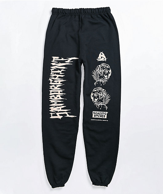 Samborghini Tiger Black Sweatpants