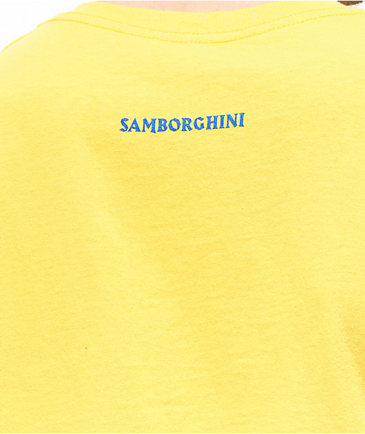 Samborghini Trippy Wolf Yellow T-Shirt