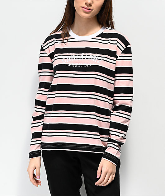 Santa Cruz 1973 Melrose camiseta de manga larga de rosas y negras