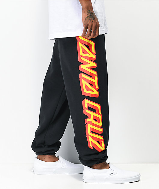 Santa Cruz Big Strip Black Sweatpants