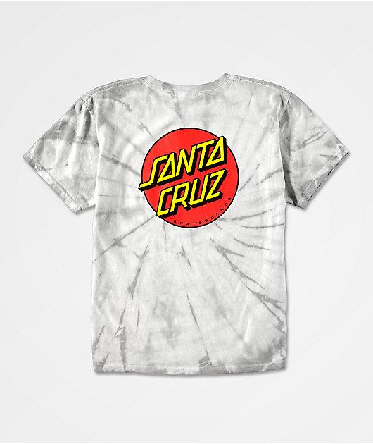 Santa Cruz Boys Classic Dot Grey Wash T-Shirt