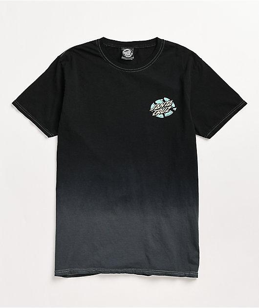 Santa Cruz Broken Dot Ombre Black T-Shirt