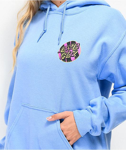 Santa Cruz Brush Dot sudadera con capucha azul