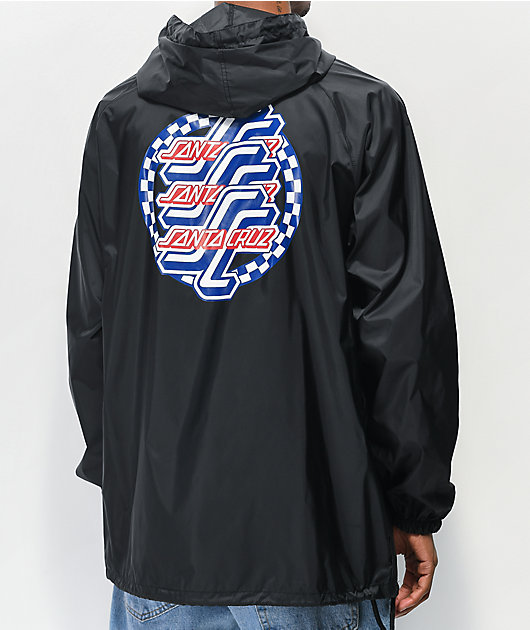 Santa Cruz Check OGSC Black Anorak Jacket
