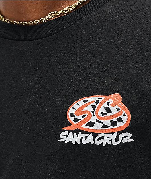 Santa Cruz Checker Pro Series Black T-Shirt