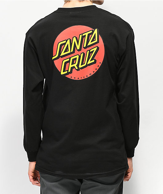 Santa Cruz Classic Dot Black Long Sleeve T-Shirt