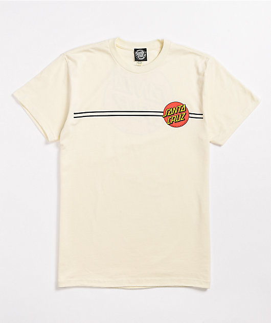 Santa Cruz Classic Dot Natural T-Shirt