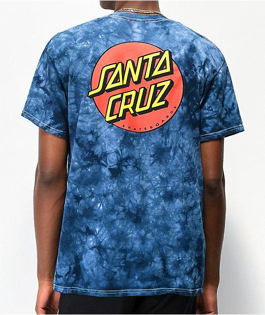 Santa Cruz Classic Dot Navy Tie Dye T-Shirt