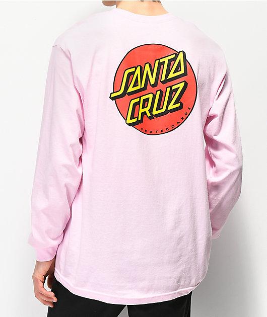Santa Cruz Classic Dot Pink Long Sleeve T-Shirt
