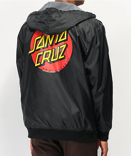 Santa Cruz Classic Dot chaqueta cortavientos negra