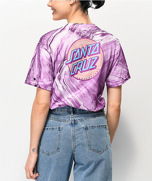 Santa Cruz Coiled Dot Marble Purple T-Shirt