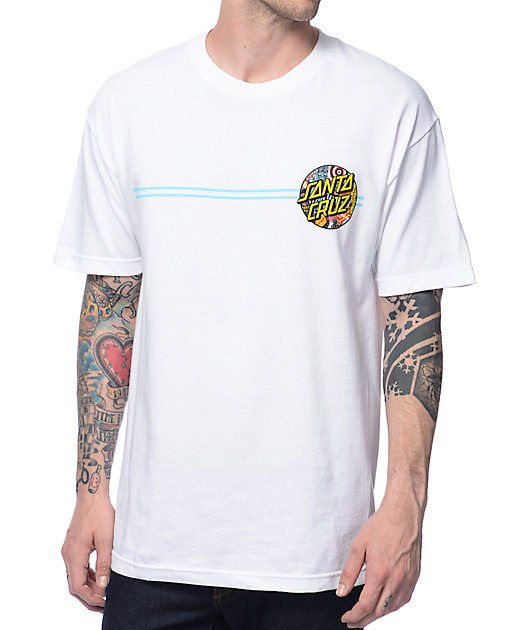 Santa Cruz Collage Dot White T-Shirt
