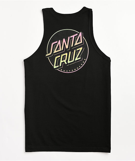 Santa Cruz Contra Dot Black Tank Top