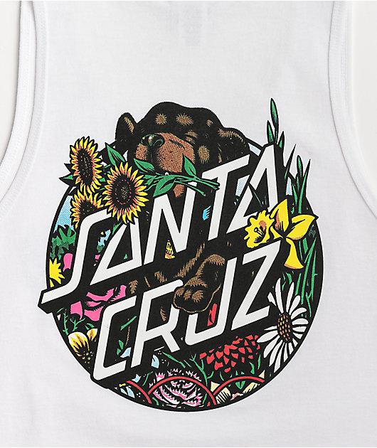 Santa Cruz Dressen Pup Dot White Tank Top