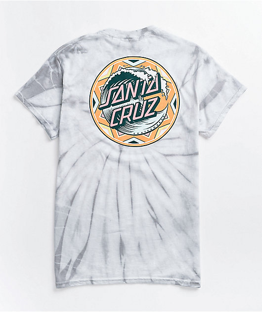 Santa Cruz Fiesta Wave Dot Grey Spider Tie Dye T-Shirt