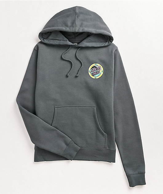 Santa Cruz Fiesta Wave Dot Light Grey Hoodie