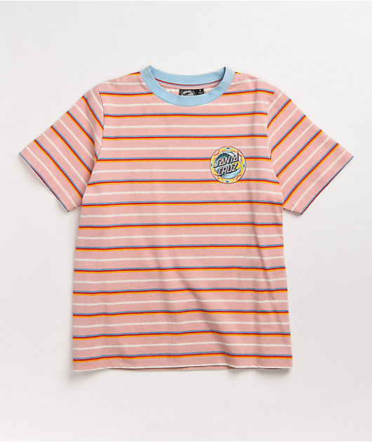 Santa Cruz Fiesta Wave Dot Pink & Multi Stripe T-Shirt