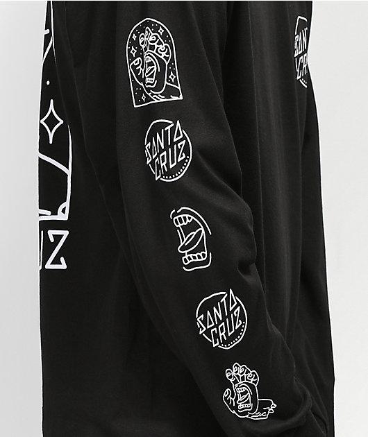 Santa Cruz Gateway Hand Black Long Sleeve T-Shirt