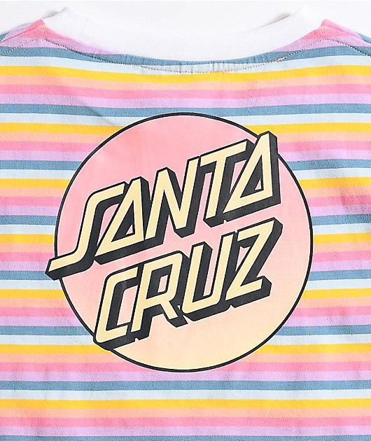 Santa Cruz Gradient Dot Rainbow Stripe T-Shirt