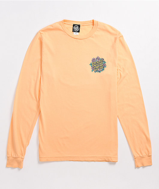 Santa Cruz Grateful Dot Peach Long Sleeve T-Shirt
