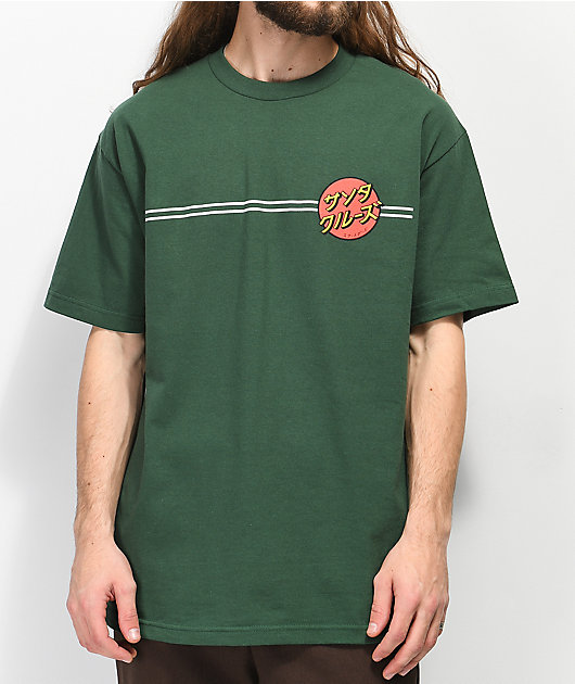 Santa Cruz Japan Dot camiseta verde