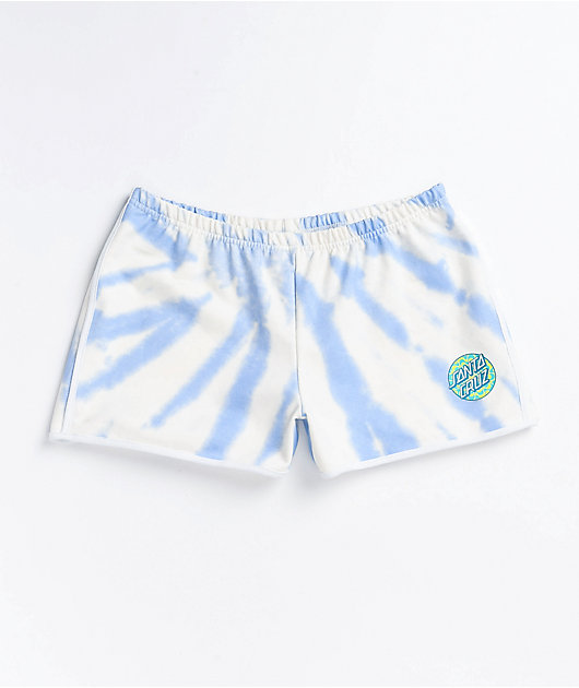 Santa Cruz Kaleidot Washed Blue Derby Shorts