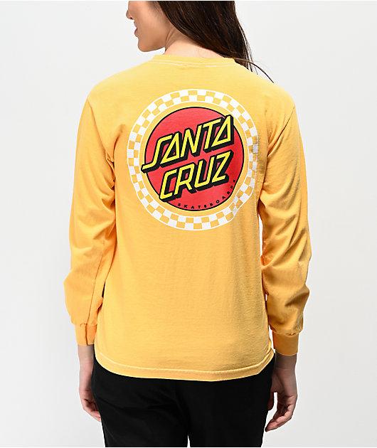 Santa Cruz Locked Stripe Yellow Long Sleeve T-Shirt