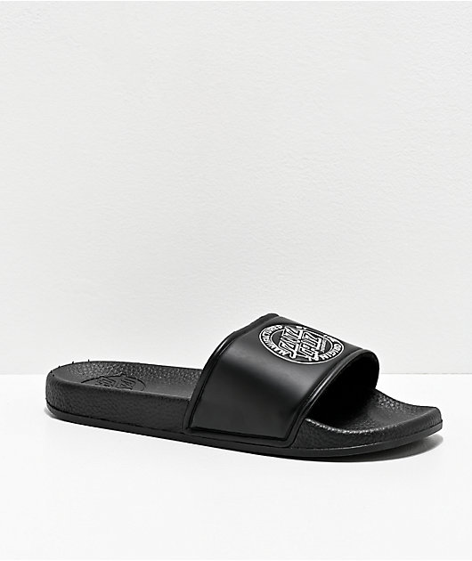 Santa Cruz MFG Dot Black Slide Sandals