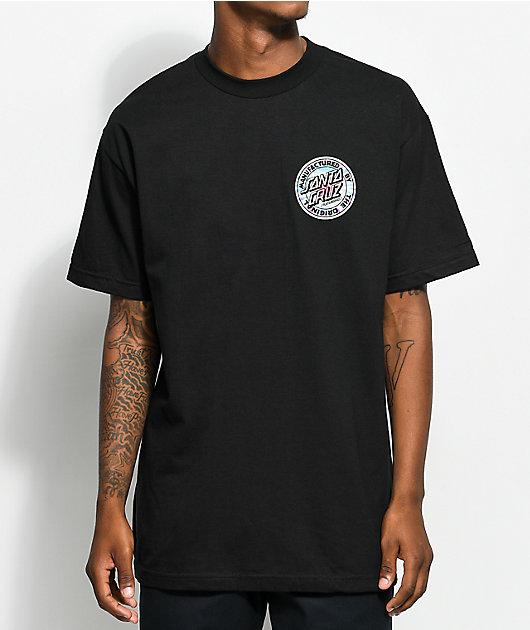 Santa Cruz Manufactured Dot Tie Dye Black T-Shirt