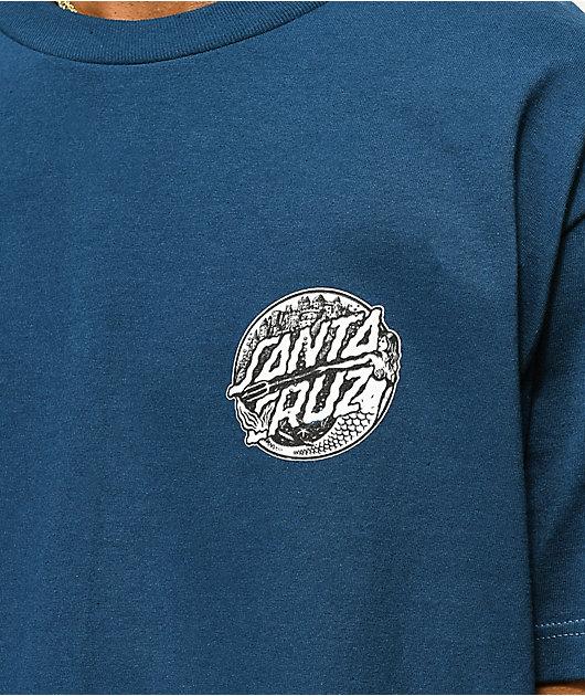Santa Cruz Mermaid Dot Blue T-Shirt