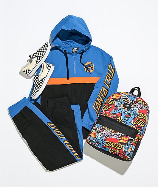Santa Cruz Missing Dot Blue & Orange Anorak Jacket