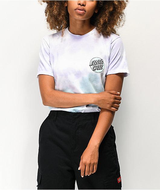 Santa Cruz Missing Dot Lavender & Mint Tie Dye T-Shirt