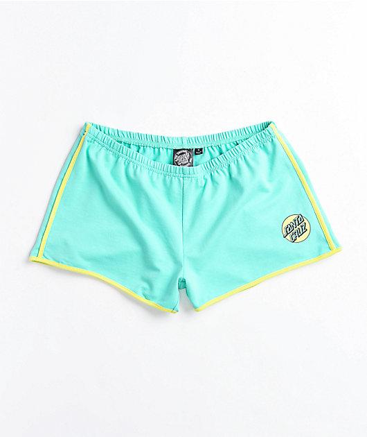 Santa Cruz Missing Dot Mint Derby Shorts