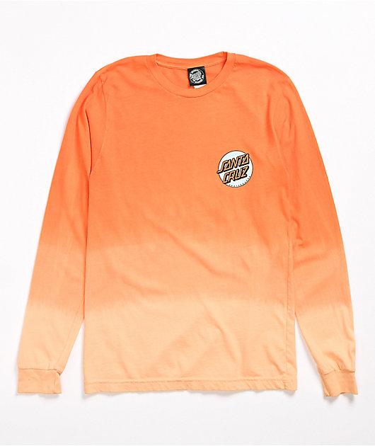 Santa Cruz Missing Dot Orange Ombre Long Sleeve T-Shirt
