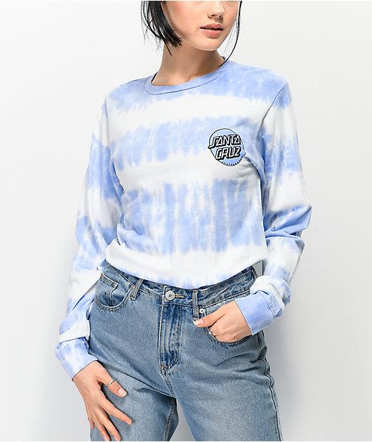 Santa Cruz Missing Dot Periwinkle Tie Dye Long Sleeve T-Shirt