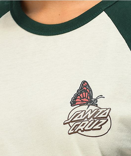 Santa Cruz Monarch Mushroom White & Green T-Shirt