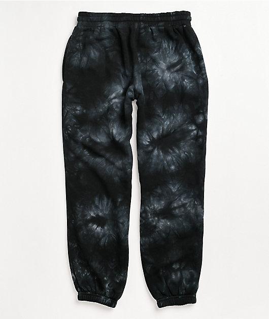 Santa Cruz Monotone Group Black Tie Dye Sweatpants