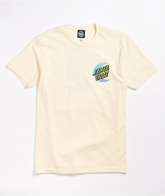 Santa Cruz Moon Dot Fade Vintage White T-Shirt