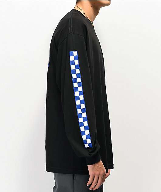 Santa Cruz Original Checkered Logo Black Long Sleeve T-Shirt