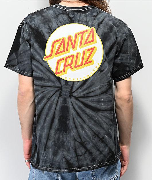 Santa Cruz Other Dot Black Tie Dye T-Shirt