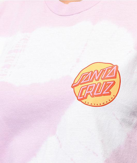 Santa Cruz Other Dot Lavender & White Tie Dye T-Shirt