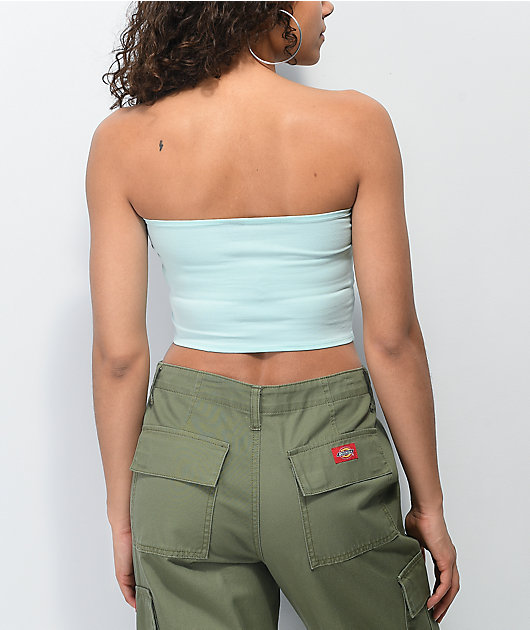 Santa Cruz Other Dot Mint Tube Top