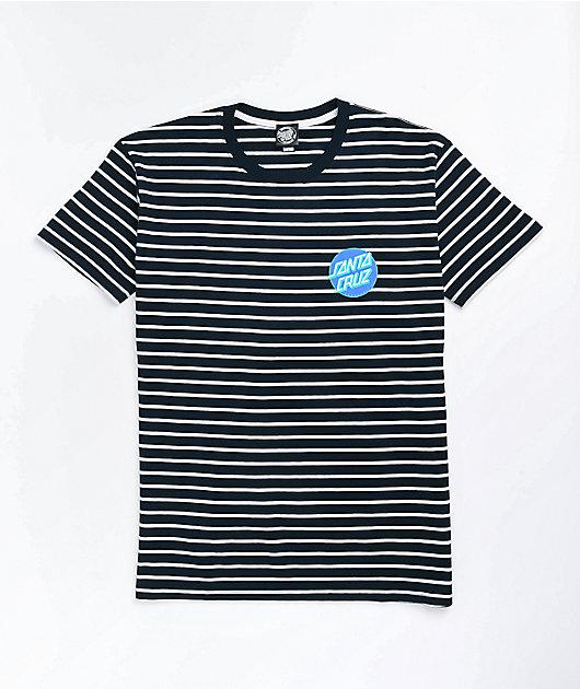 Santa Cruz Other Dot Navy & White Stripe T-Shirt