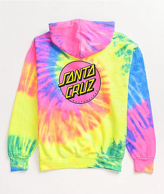 Santa Cruz Other Dot Neon Rainbow Tie Dye Hoodie