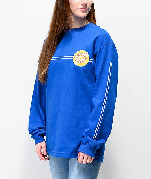 Santa Cruz Other Dot camiseta de manga larga azul real de rayas
