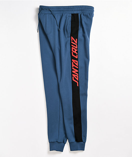 Santa Cruz Panel Strip Navy Jogger Sweatpants