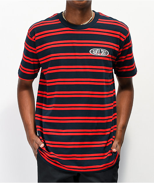 Santa Cruz Region Red & Navy Striped T-Shirt
