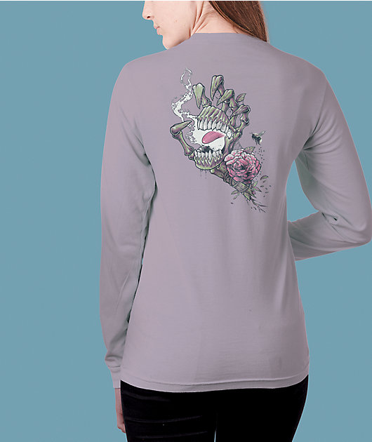 Santa Cruz Resurrect Hand Purple Long Sleeve T-Shirt